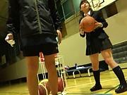 Petite Japanese schoolgirl sucks dick