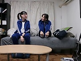 Lesbian Japanese girls in scenes of softcore