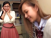 POV Japanese school porn with two teen babes