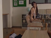 Suzumi Misa likes masturbation in school