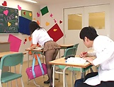 Ruka Kanae gets steamy with one of her classroom colleagues picture 11