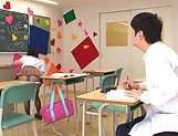 Ruka Kanae gets steamy with one of her classroom colleagues picture 14
