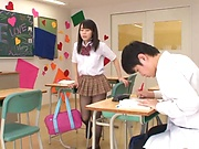 Ruka Kanae gets steamy with one of her classroom colleagues