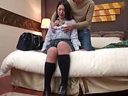 Japanese schoolgirl wants a creampie