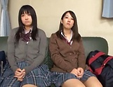 Steamy foursome with hardcore Japanese schoolgirls picture 11