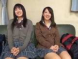 Steamy foursome with hardcore Japanese schoolgirls picture 12