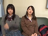 Steamy foursome with hardcore Japanese schoolgirls picture 14