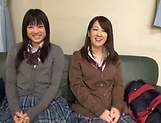 Steamy foursome with hardcore Japanese schoolgirls picture 15