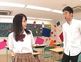 Schoolgirl sucks and fucks teacher for better grades