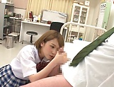 Cock loving teen schoolgirl Shiina Sora gives a terrific cock ride