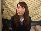 Japanese teen beauty loves sucking hard cock picture 4