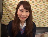 Japanese teen beauty loves sucking hard cock picture 6