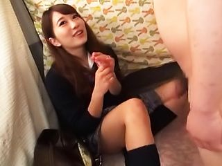 Japanese teen beauty loves sucking hard cock
