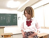 Crazy schoolgirl Shiina Sora gets banged in mmf threesome picture 5