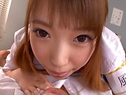 Sexy tokyo schoolgirl Aise Miki sucks and rides a dick like a pro