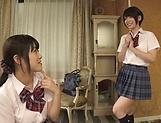 Fisting session involving spicy Suzumi Misa and Inamura Hikari picture 11