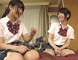 Fisting session involving spicy Suzumi Misa and Inamura Hikari picture 14