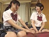 Fisting session involving spicy Suzumi Misa and Inamura Hikari picture 15