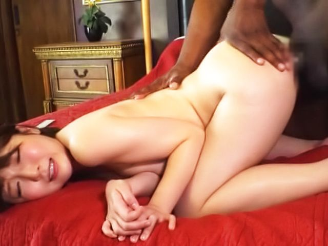 Wild hottie Sakura Kizuna enjoys sucking a massive black cock