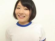 Haruki Karen loves it when her shaved pussy gets teased