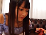 Amatuer Asian hottie Eri Natsume in raunchy indoors scene picture 1