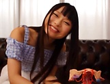 Amatuer Asian hottie Eri Natsume in raunchy indoors scene picture 5