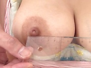 Amazing woman with big tits is moaning
