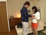 Sweet Japanese model is a true cock sucker and pleaser picture 12