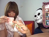 Hoshimi Rika ,plays with a stiff pole in her mouth