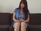 Asa Hikaede gets laid in a lovely threesome action picture 14