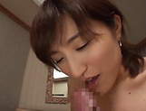 Ishimi Chiharu excites during a hardcore action