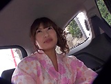 Hayakawa Mizuki has her shaved cunt pleasured picture 9