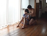 Sweetie Nagomi gets wild with lad on the floor picture 9