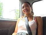 Shien Fujimoto enjoying an arousal car sex picture 13