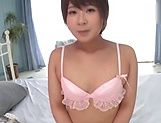 Cute Japanese brunette is very excited