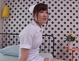 Nurse with shaved pussy got fucked hard