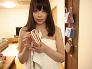 Amateur gal with a shaved pussy Ootori Kaname gives a ride