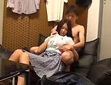 Minami Natsuki gets her shaved pussy pleasured