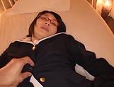 Lip smacking hottie Haruki Karen impressive action