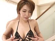 Kimijima Mio is a very experienced milf