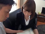 Horny office lady loves getting freaky with a workmate