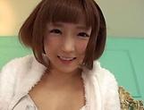 Sakura Kizuna ,does a kinky cum swallowing