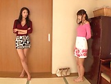 Raunchy lesbian fun involving two hot Asian beauties