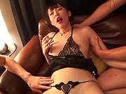 Wild threesome for luscious Kuroki Ikumi