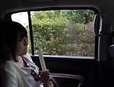 Cute Sakura Kizuna gets her shaved twat drilled hard outdoors