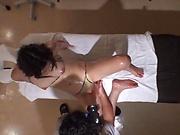 Sexy babe Saryuu Usui enjoys a hardcore massage