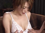 Hot milf in lingerie wants a threesome