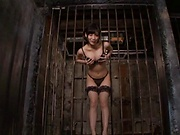 Hot Asian model gets her gaping wet cunt fucked indoors