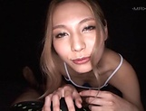 Sexy Takai Runa gets loads of cum after POV sex