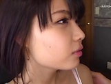 Naughty Asian amateur Ishigami Satomi in blowjob act picture 10